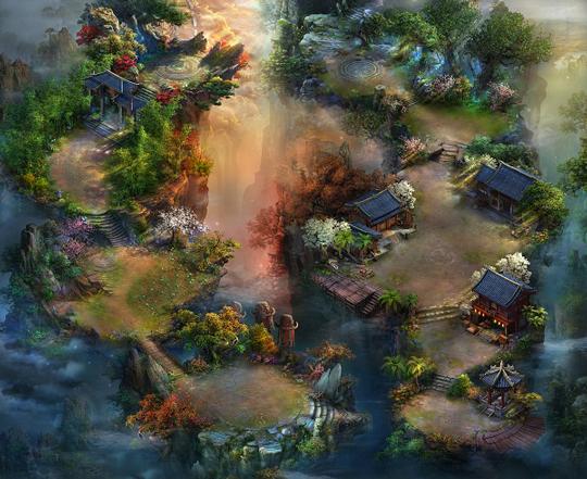 超强嗜血PK巨作《灵域仙魔》全景3D场景鉴赏